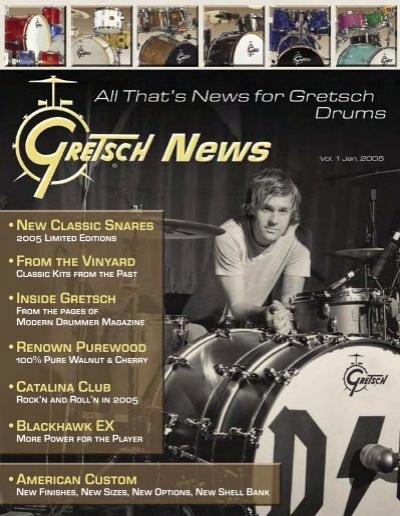 2004 Print Ad of Kaman Gretsch Vinnie Colaiuta Signature Drum Kit
