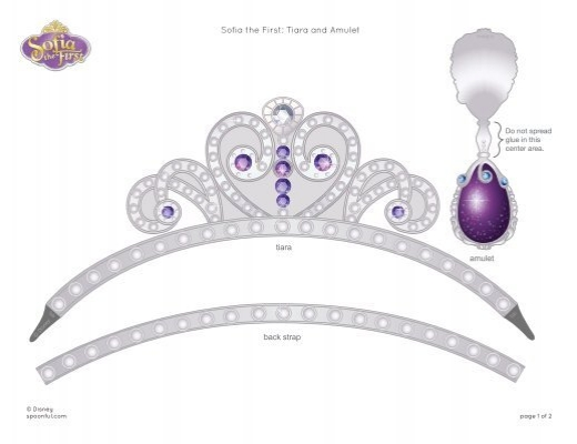 Download sofia the first tiara and amulet template for Sofia the first crown template