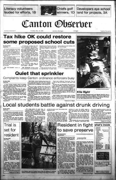 Mature nl philana Canton Observer For May 19 1988 Canton Public Library