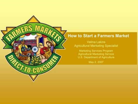 How to Start a Farmers Market - Agricultural Marketing Service - US