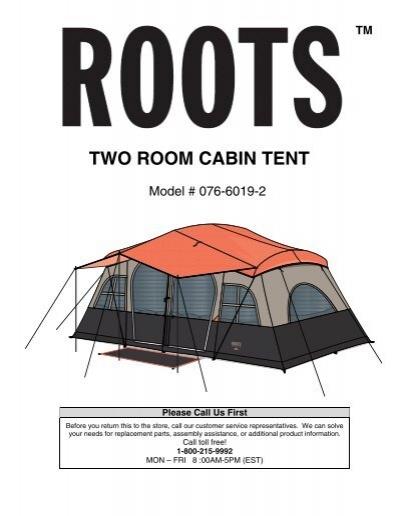 sc 1 st  Yumpu & TWO ROOM CABIN TENT - rootsoutdoor.ca