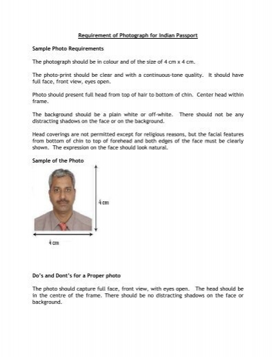 Latest Passport size photo to be pasted and attested by the Head of ...