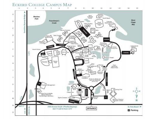 Eckerd College Map Eckerd College Campus Map Eckerd College Map