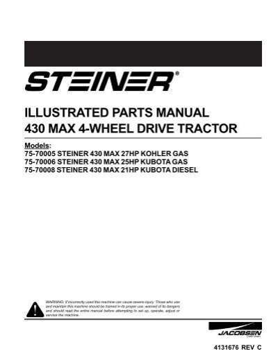8440442 illustrated parts manual 430 max 4 wheel drive tractor caribe turf