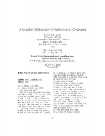 Computing Of Files In University Of Utah