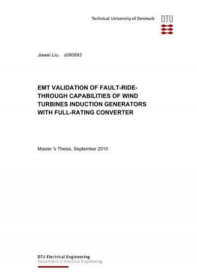 Master thesis technical report
