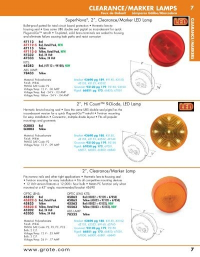 Grote 92162 Red Clearance Marker Replacement Lens