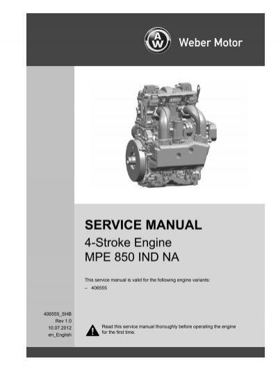 service manual weber motor weber motor rh yumpu com Weber Engines USA weber 750 turbo service manual