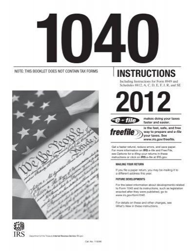 www irs gov 1040 instructions