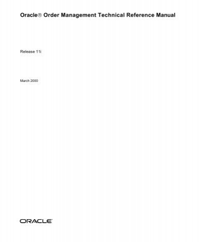 oracle order management technical reference manual rh yumpu com