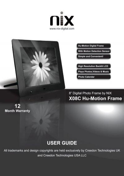 X15B User Manual-120405-v2.pdf - Nix Digital Frames