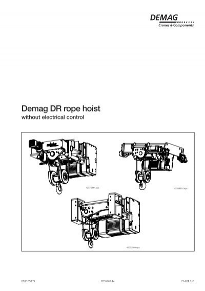 demag dr rope hoist  demag cranes  components