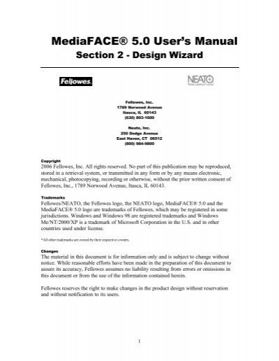 Mediaface 5 0 User S Manual Neato