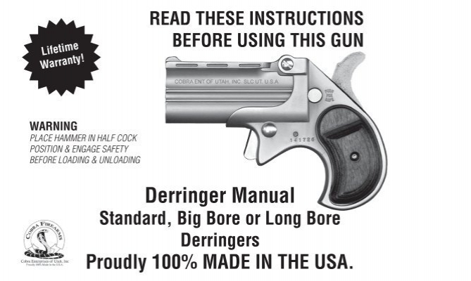 click here to download a derringer manual cobra firearms rh yumpu com Cobra Derringer 38 Special Manual Cobra Derringer 38 Special Manual