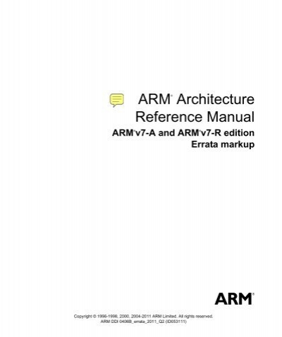 arm architecture reference manual armv7 a and armv7 r edition. Black Bedroom Furniture Sets. Home Design Ideas