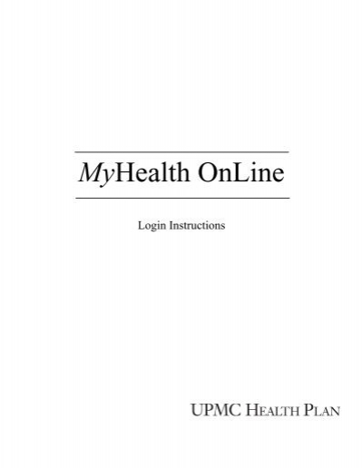 Login Instructions - UPMC Health Plan