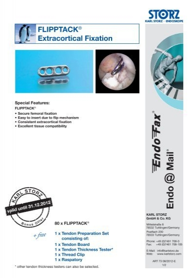 FLIPPTACK® Extracortical Fixation - Karl Storz