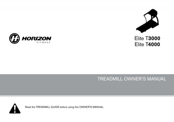 Horizon fitness horizon t4000 premier folding treadmill | ebay.
