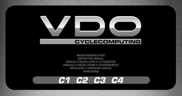 Vdo c3 ds digital wireless cyclocomputer manual.