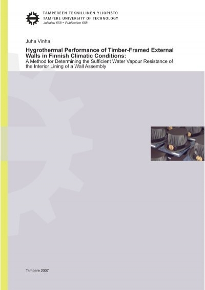 Hygrothermal Performance of Timber-Framed External Walls in ...