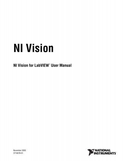 ni vision for labview user manual national instruments rh yumpu com Instruction Manual Book Instruction Manual Book