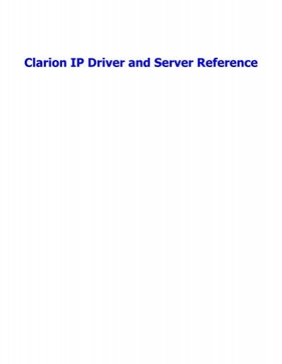 softvelocity clarion free download
