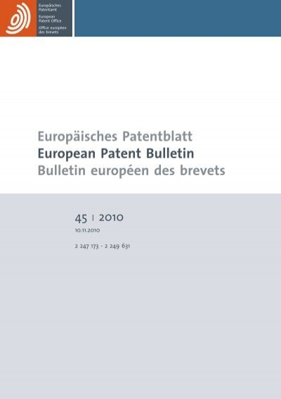Bulletin 201045 European Patent Office