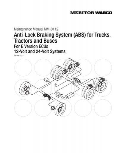 meritor abs wiring diagram power cord anti lock braking system  abs  for trucks meritor wabco  anti lock braking system  abs  for
