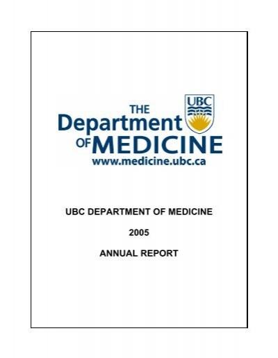 ubc department of medicine 2005 annual