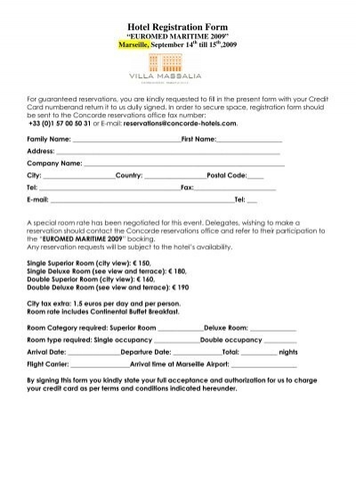 Hotel registration form mare forum thecheapjerseys Gallery