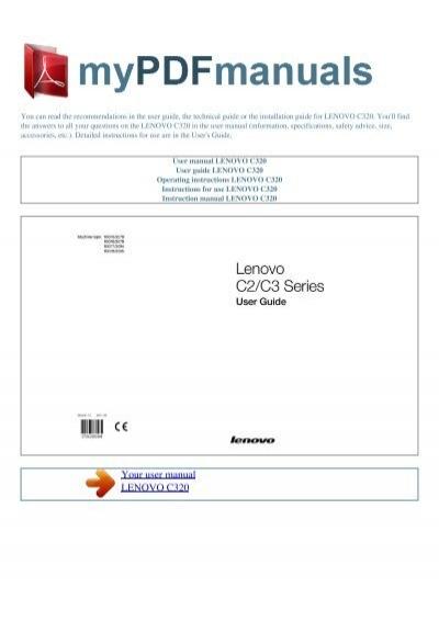user manual lenovo c320 my pdf manuals rh yumpu com
