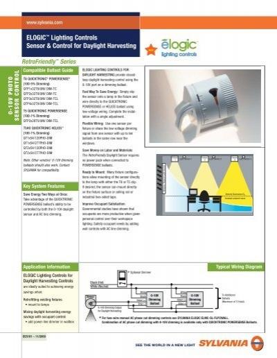 0 10v dimming ballast wiring diagram elogic    lighting controls sensor   control for osram sylvania  elogic    lighting controls sensor