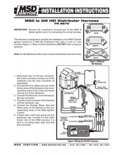 MSD to GM    HEI       Distributor    Harness  MSD Ignition