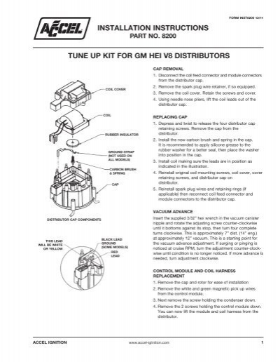 Msd to gm hei distributor harness msd ignition accel gm hei distributor tune up kit instructions part 8200 publicscrutiny Images
