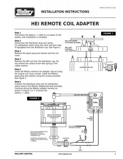 Hei Remote Coil Adapter - Prestolite Performance