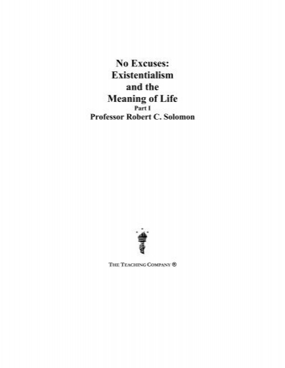 existentialism and the meaning of life essay