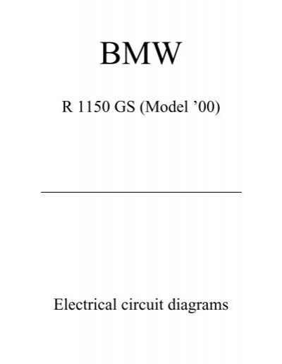 R 1150 GS (Model '00) Electrical circuit diagrams - BMW GS Club ... | Bmw R 1150 Gs Wiring Diagram |  | Yumpu