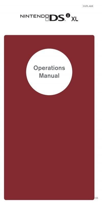 dsi xl operations manual nintendo of australia rh yumpu com nintendo ds operations manual number Nintendo NES