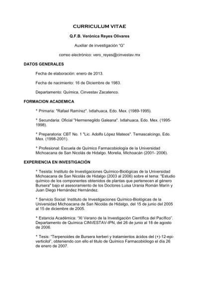 Curriculum Vitae Nathan Cinvestav Mx Cinvestav