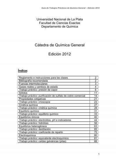 Cátedra De Química General Edición 2012 Cátedras