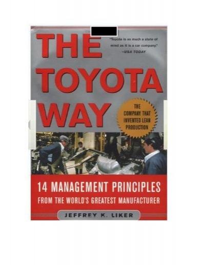 resumen libro the toyota way lean manufacturing