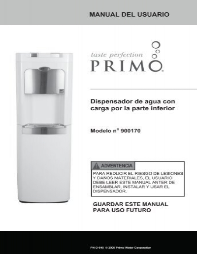 Refrigerador de agua de carga inferior Primo