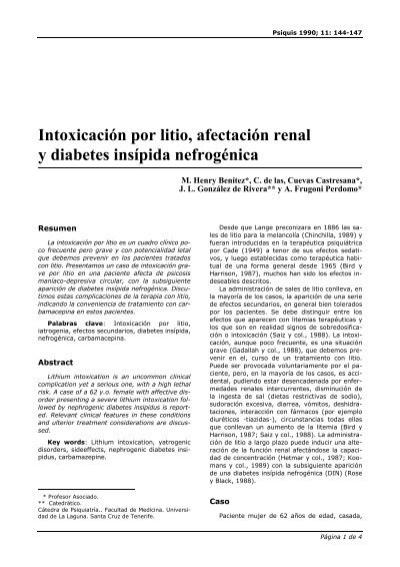Tratamiento de diabetes insipida