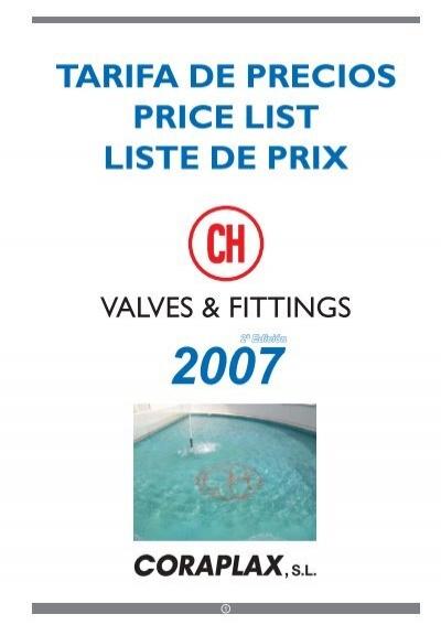Tarifa De Precios Price L