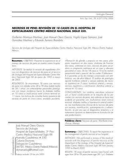 licuefacción necrosis patogenia de la diabetes
