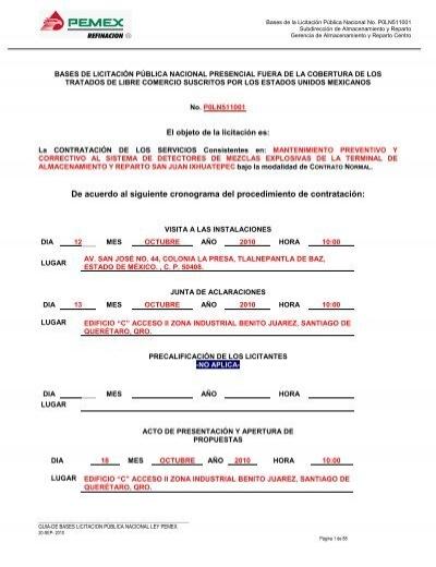 Modelo De Bases De Licitación Pública Internacional