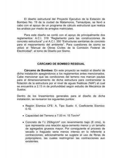 Revision estructural de la casa habitacion ubicada for Diseno estructural pdf