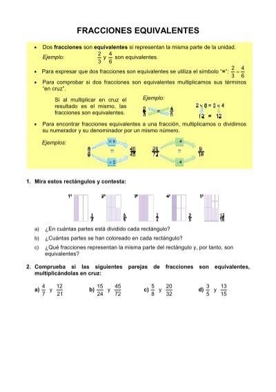 Fracciones Equivalentes Santa María De La Paz