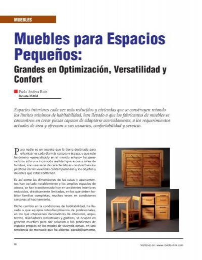 Muebles para espacios peque os revista el mueble y la - Muebles de salon para espacios pequenos ...