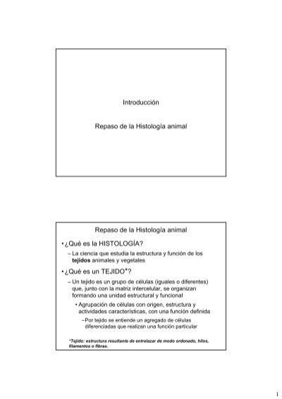 Repaso De Histologia I Tejido Epitelial